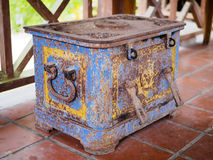 Old iron chest at Suan Nai Dum Chumphon Thailand Royalty Free Stock Photography