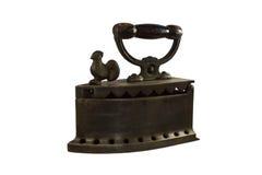 Old iron,. Coal iron flatiron isolated over white Royalty Free Stock Photos