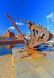 Old iron crane Royalty Free Stock Images