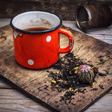 Old iron cup of tea Royalty Free Stock Image