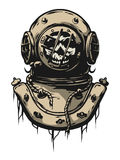 Old iron diving helmet. Royalty Free Stock Photography