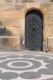 Old Iron Door. This is an old castle door in Europe (Prague Stock Images
