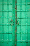 Old iron door. Entrance to the old church Royalty Free Stock Photography