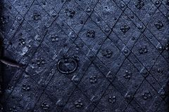 Old iron door background, detailed royalty free stock image