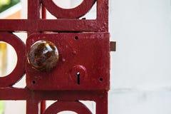 Old iron door Stock Images