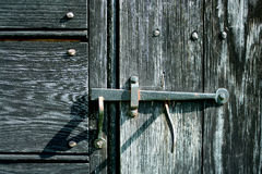 Old iron door latch Royalty Free Stock Photography