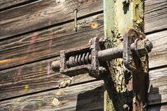 Old iron door latch Stock Image