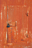 Old iron door with lock Royalty Free Stock Photos