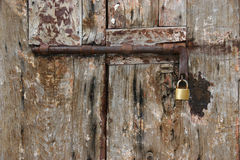 Old  door and lock Royalty Free Stock Image