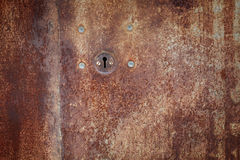 Old iron door with lock Stock Image