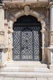 Old iron door on Peles museum, Sinaia Romania.  royalty free stock image