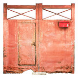 Old Iron Door Red Royalty Free Stock Photography