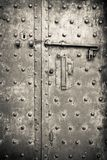 Old iron door - security and protection Stock Images