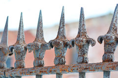 Old iron fence Royalty Free Stock Photo