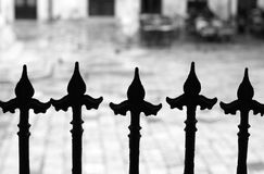 Old iron fence. (Dubrovnik, Croatia Stock Image