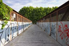 Old iron footbridge Stock Photography