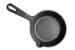 Old Iron Frying Pan Isolated Stock Images