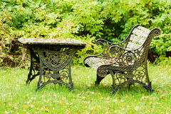 Old iron furniture royalty free stock photo