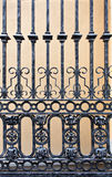 Old iron gate. Detail of a old iron gate stock photography