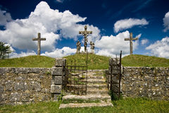 Old Iron Gate And The Calvary In Zminj Stock Image