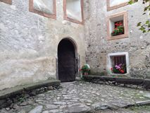 Old iron gate in a castle. In Southern Tyrol Royalty Free Stock Photography