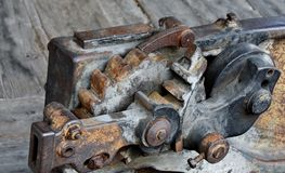 Old iron gears... Royalty Free Stock Photos