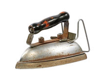 Old iron.Isolated. Royalty Free Stock Image