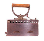 Old iron isolated side view Royalty Free Stock Image