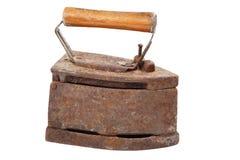 Old iron isolated on white background Royalty Free Stock Image