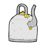 old iron kettle comic cartoon Royalty Free Stock Image