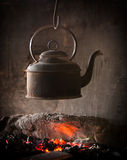 Old iron kettle Stock Images