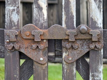 Old iron latch Stock Photo