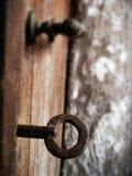 Old iron lock 2. Old iron lock on old doors Royalty Free Stock Image