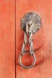 The old iron lock gates - vintage style. Stock Photos