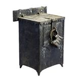 Old iron mail box.  Isolated image. Stock Photos