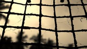 Old iron mesh with cobwebs Stock Photos
