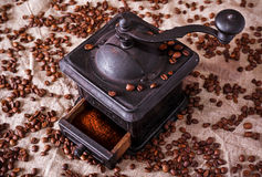 Old iron mill coffee machine Stock Photography
