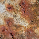Old iron plate with rust on it Royalty Free Stock Image