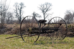 Old plow. Old iron plow the field Royalty Free Stock Photo