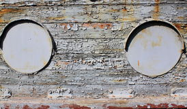 Old iron portholes Royalty Free Stock Photos