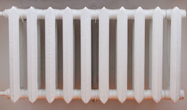 Old iron radiator for home. royalty free stock photography