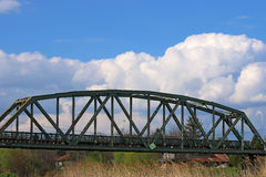 Old iron railway bridge Royalty Free Stock Photos