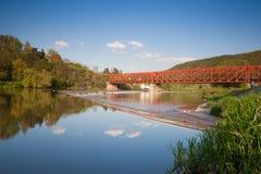 The old iron railway bridge Stock Photos