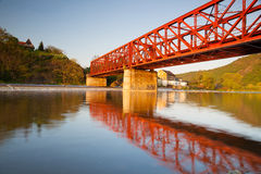 The old iron railway bridge Royalty Free Stock Photography