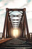 Old iron railway bridge Royalty Free Stock Photography