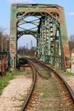 Old iron railway bridge Stock Photo