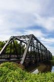 Old iron railway construction bridge in Lamphun Thailand Stock Photos