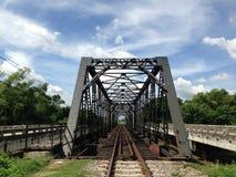 Old iron railway construction bridge,Lamphun,Thailand Royalty Free Stock Photo