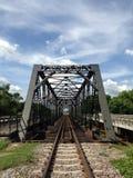 Old iron railway construction bridge,Lamphun,Thailand Royalty Free Stock Photography