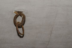 Old iron ring attachment Royalty Free Stock Image